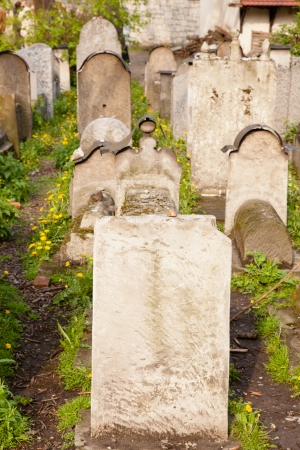 Old Jewish cemetery is located beside the Remuh Synagogue at 40 Szeroka Street in the historic Kazimierz district of Krak Stock Photo - 14399687