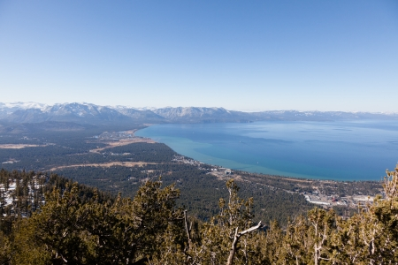 Lake Tahoe is a large freshwater lake in the Sierra Nevada mountains of the United States. Stock Photo - 14874335