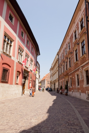 atilde: Krakow Old Town is the historic central district of Krak Atilde, Poland Stock Photo