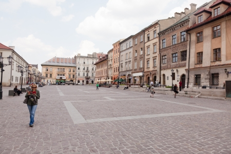 cracovia: The Little Market situated a block from the Main Market Square is one of the most picturesque places in Krakow