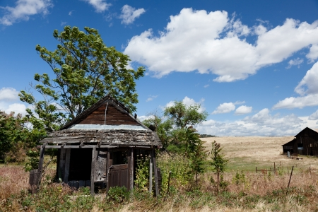 California ghost town from gold rush west of Mariposa photo