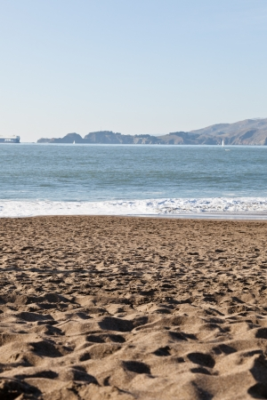 Sunny Saturday on Baker Beach in San Francisco. photo