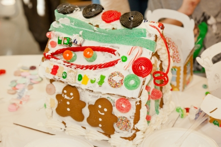 encountered: Gingerbread dough is used to build gingerbread houses similar to the &quot,witchs house&quot, encountered by Hansel and Gretel.