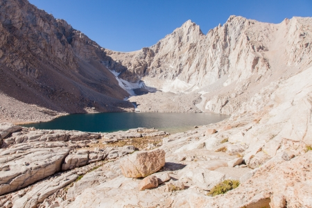 high sierra: Mount Whitney Trail is a trail that climbs Mount Whitney. It starts at Whitney Portal, 13 miles (21 km) west of the town of Lone Pine, California.
