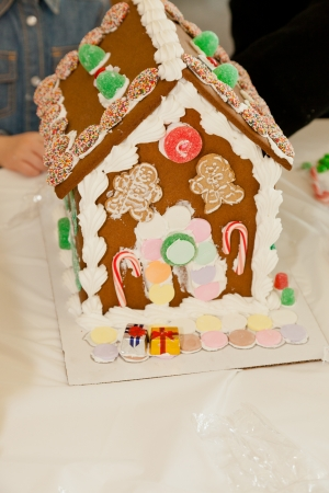 Gingerbread dough is used to build gingerbread houses similar to the witch's house encountered by Hansel and Gretel. photo