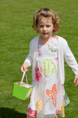 Egg hunt is a game during Easter photo