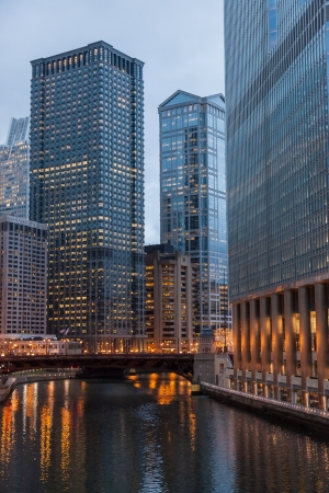 Chicago Loop is one of 77 officially designated community areas located in the City of Chicago, Illinois, United States. It is the historic commercial center of Downtown Chicago. Stock Photo - 17403432