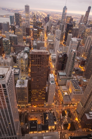 Chicago Skyline from the Signature Lounge in the Hancock Building Stock Photo - 17425534
