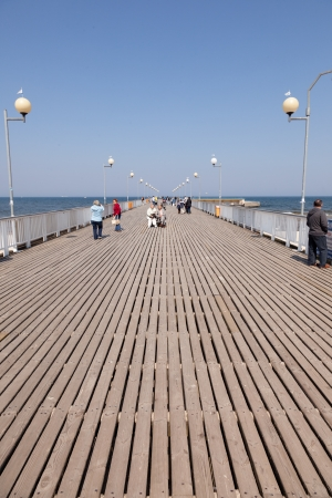 polska: Pier was built in 1937 and is the longest concrete pier in Poland. Editorial