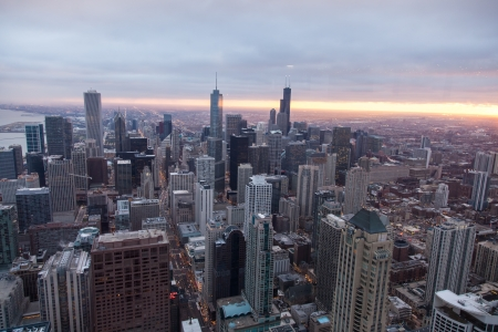 Chicago Skyline from the Signature Lounge in the Hancock Building photo