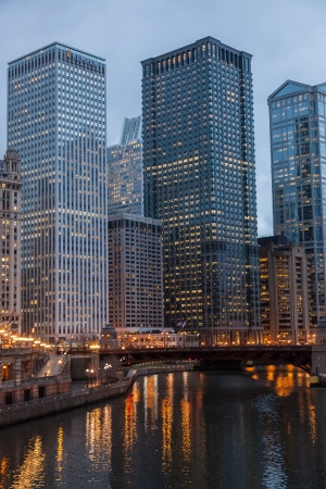 Chicago Loop is one of 77 officially designated community areas located in the City of Chicago, Illinois, United States. It is the historic commercial center of Downtown Chicago. Stock Photo - 17842593