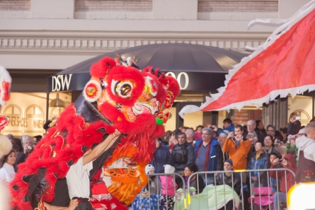 SAN FRANCISCO - FEBRUARY 23: Chinese New Year Parade in Chinatown on February 23, 2013 in San Francisco, California. Over 100 units participated in the Southwest Airlines Chinese New Year Parade. Stock Photo - 18171206