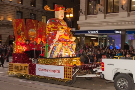 SAN FRANCISCO - FEBRUARY 23: Chinese New Year Parade in Chinatown on February 23, 2013 in San Francisco, California. Over 100 units participated in the Southwest Airlines Chinese New Year Parade. Stock Photo - 18250970