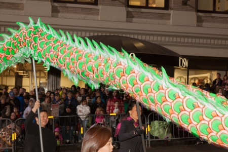 SAN FRANCISCO - FEBRUARY 23: Chinese New Year Parade in Chinatown on February 23, 2013 in San Francisco, California. Over 100 units participated in the Southwest Airlines Chinese New Year Parade. Editorial