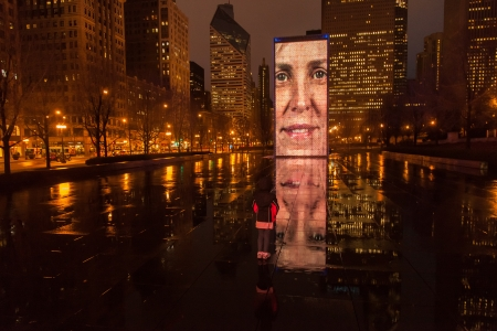 plensa: Crown Fountain is an interactive work of public art and video sculpture featured in Chicagos Millennium Park