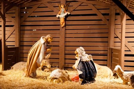 yıldız: Doğum sahnesi Matta ve Luka İncil açıklandığı gibi İsa'nın doğum anlatımıdır. Stok Fotoğraf