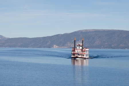 pile engine: Sightseeing cruise around Emerald Bay on Lake Tahoe on Tahoe Queen