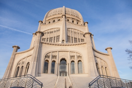 Baháí Temple in Wilmette, Illinois, is the oldest surviving Baháí House of Worship in the world.