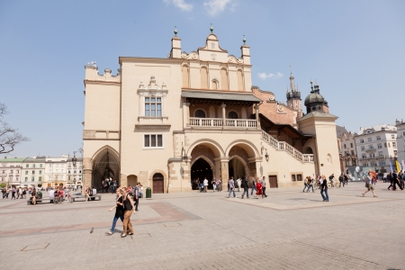 polska monument: Renaissance Sukiennice (Cloth Hall, Drapers Hall) in Kraków, Poland, is one of the citys most recognizable icons. Editorial