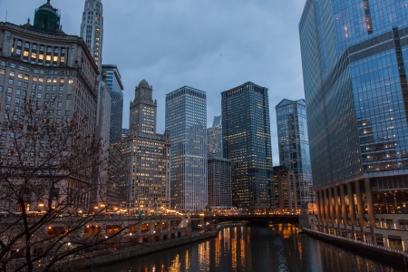 Chicago Loop is one of 77 officially designated community areas located in the City of Chicago, Illinois, United States. It is the historic commercial center of Downtown Chicago. Stock Photo - 18862707