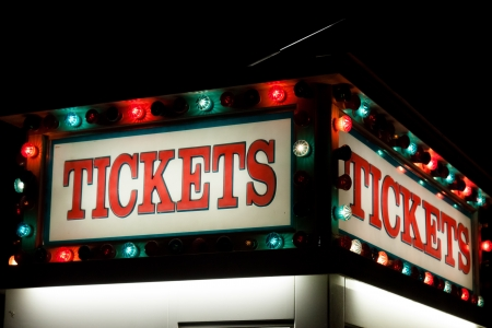 Box office is a place where tickets are sold to the public for admission to an event. photo