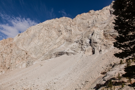 Mount Whitney Trail is a trail that climbs Mount Whitney. It starts at Whitney Portal, 13 miles (21 km) west of the town of Lone Pine, California. Stock Photo - 19023655