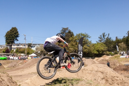 APTOS VILLAGE - APRIL 14: 4th Annual Santa Cruz Mountain Bike Festival on April 13 & 14, 2013 in Aptos Village, California. The Festival takes everything that is great about the local mountain bike scene and brings it all together in one place.