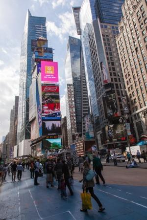 walk in: Taking a walk on Manhattan in New York City.