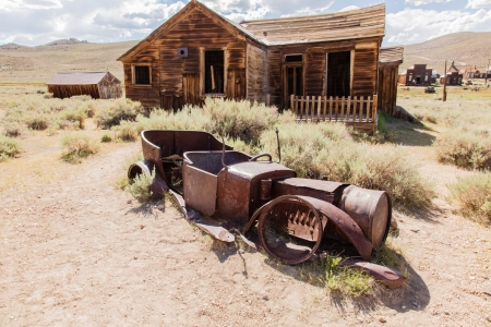 western united states: Bodie is a ghost town in the Bodie Hills east of the Sierra Nevada mountain range in Mono County, California, United States Stock Photo