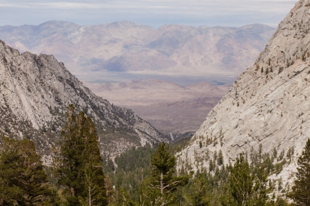 Mount Whitney Trail is a trail that climbs Mount Whitney  It starts at Whitney Portal, 13 miles  21 km  west of the town of Lone Pine, California