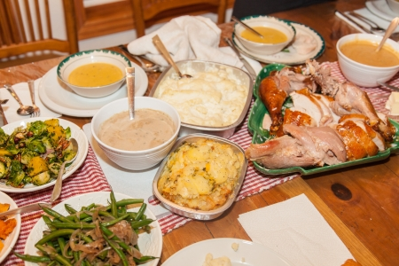 Traditional American version of Thanksgiving dinner Stock Photo - 20343406