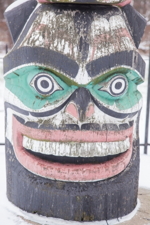 Kwanusila, the Thunderbird, is an authentic Kwagulth Indian Totem Pole, carved in red cedar by Tony Hunt of Fort Rupert, British Columbia.