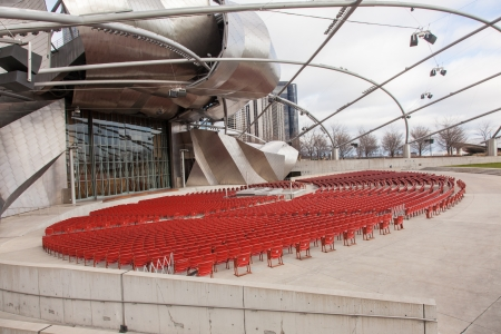 Jay Pritzker Pavilion is a bandshell in Millennium Park in the Loop community area of Chicago in Cook County, Illinois,