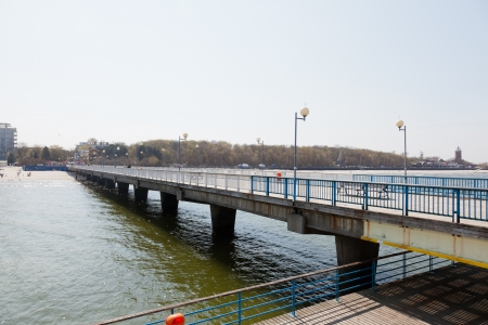 Pier was built in 1937 and is the longest concrete pier in Poland. Stock fotó