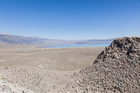 Panum Crater is a volcanic cone that is part of the Mono-Inyo Craters, a chain of recent volcanic cones south of Mono Lake and east of the Sierra Nevada, in California, USA. Stock Photo - 21304254