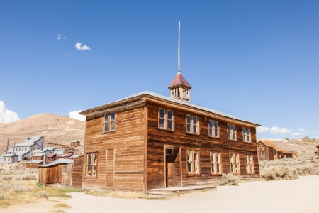 western usa: Bodie is a ghost town in the Bodie Hills east of the Sierra Nevada mountain range in Mono County, California, United States Editorial