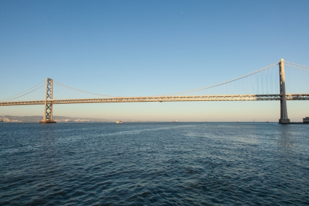interstate 80: San Francisco–Oakland Bay Bridge is part of Interstate 80 and the direct road route between San Francisco and Oakland  Stock Photo