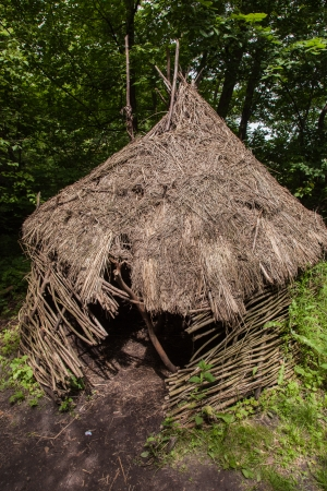 Stone age hunters gatherers encampment in Biskupin archaeological site. Stock Photo - 22271286