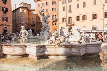 1st century ad: Piazza Navona is a city square in Rome, Italy  It is built on the site of the Stadium of Domitian, built in 1st century AD, and follows the form of the open space of the stadium