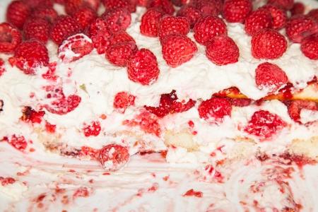indulgent: Quick and simple to make, this raspberry tiramisu is perfect as an indulgent centerpiece Stock Photo