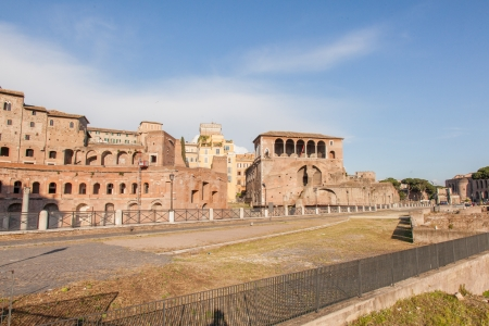 Trajan's Market is a large complex of ruins in the city of Rome, Italy, located on the Via dei Fori Imperiali, at the opposite end to the Colosseum.