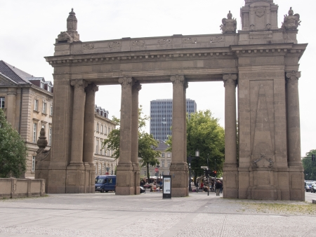 Charlottenburg Gate with Charlottenburg Bridge is a Neo-Baroque building in the Charlottenburg district of Berlin.