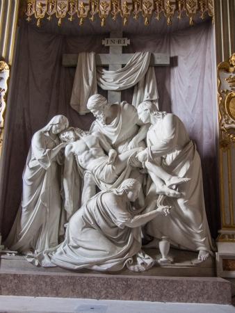 monti: Pieta by German sculptor William Theodore Achtermann in the church of Trinità deo Monti