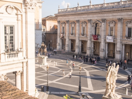 Piazza del Campidoglio, on the top of Capitoline Hill, Rome, Italy