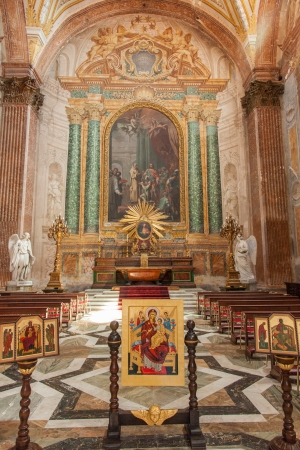 martiri: Basilica of St. Mary of the Angels and the Martyrs is a titular basilica church in Rome, built inside the frigidarium of the Baths of Diocletian in the Piazza della Repubblica. Editorial