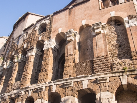 Theatre of Marcellus is an ancient open-air theatre in Rome, Italy, built in the closing years of the Roman Republic