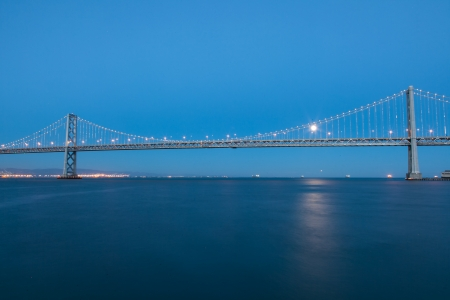 San Francisco–Oakland Bay Bridge is part of Interstate 80 and the direct road route between San Francisco and Oakland. photo