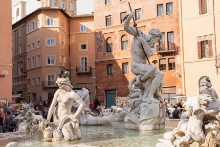 1st century ad: Piazza Navona is a city square in Rome, Italy. It is built on the site of the Stadium of Domitian, built in 1st century AD, and follows the form of the open space of the stadium.