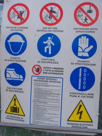Construction sites are one of the most dangerous environments to work it due to the high possibility of being seriously injured. photo