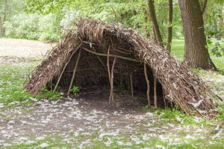 biskupin archaeological site: Stone age hunters gatherers encampment in Biskupin archaeological site. Stock Photo